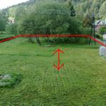 Pozemek s vyznačeným směrem pro hraní míčových her