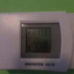 Ovládání elektronického termostatku peletkového kotle (pinpongárna)
