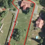 Letecký snímek pozemku